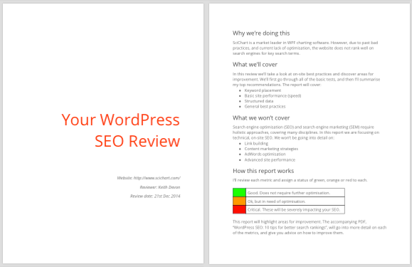 Sample of WordPress SEO review